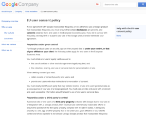 google eu user consent policy per utilizzo reCAPTCHA