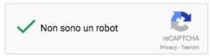 non sono un robot - esempio