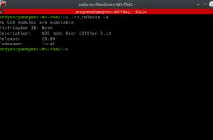 kde aggiornato a 5.19.5 e ubuntu 20.04