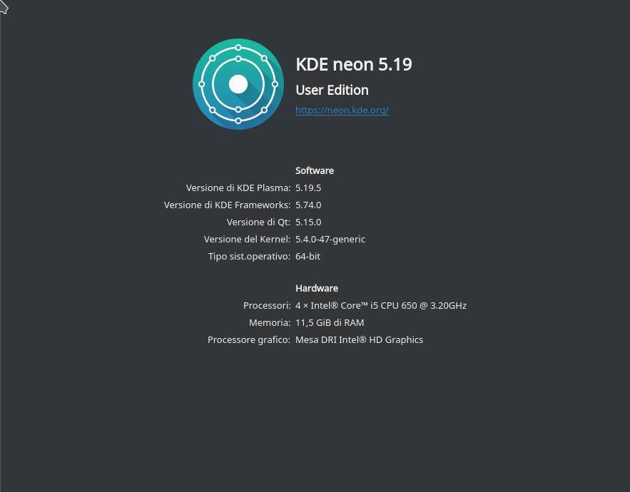 kde plasma 5.19 aggiornare a ubuntu 20.04